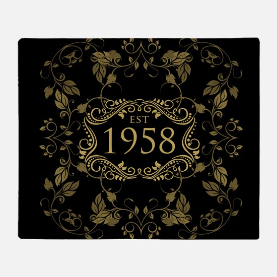 1958 Birth Year Throw Blanket