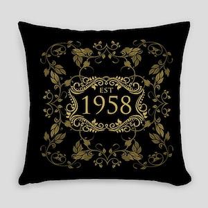 1958 Birth Year Everyday Pillow
