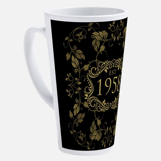 1958 Birth Year 17 oz Latte Mug