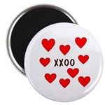 "Hugs and Kisses 2.25"" Magnet (100 pack)"
