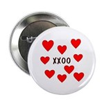 "Hugs and Kisses 2.25"" Button (100 pack)"