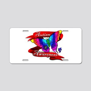Autism Awareness Butterfly Design Aluminum License