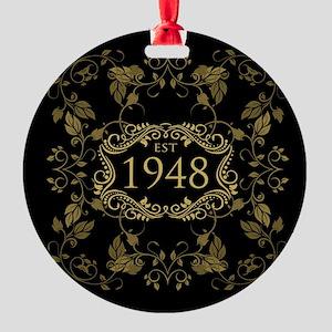 1948 Birth Year Round Ornament