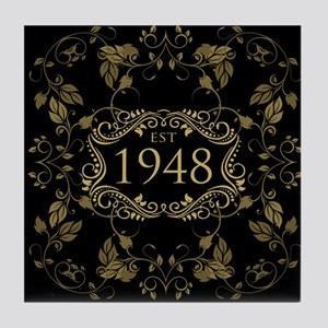 1948 Birth Year Tile Coaster