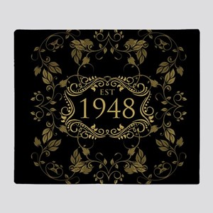 1948 Birth Year Throw Blanket