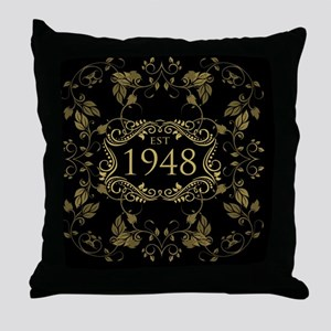 1948 Birth Year Throw Pillow