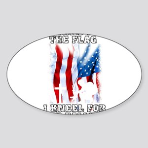 I Stand For The Flag, I Kneel For The Fall Sticker