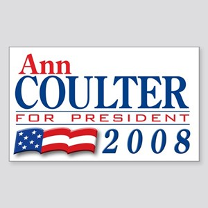 VoteWear! Coulter Rectangle Sticker