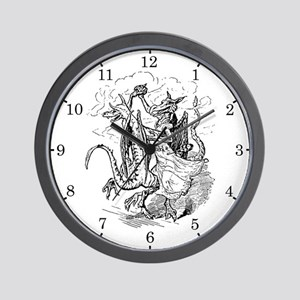 Dancing Dragons Wall Clock