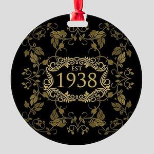 1938 Birth Year Round Ornament