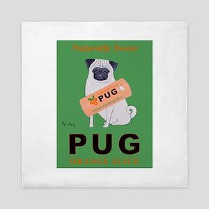 Pug Orange Juice Queen Duvet