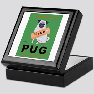 Pug Orange Juice Keepsake Box