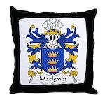 Maelgwn Family Crest Throw Pillow