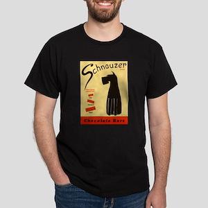 Schnauzer Bars Dark T-Shirt