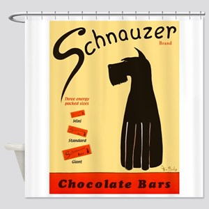 Schnauzer Bars Shower Curtain