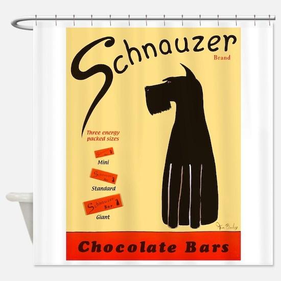 Schnauzer Bars Shower Curtain