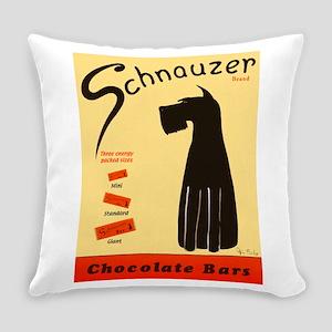 Schnauzer Bars Everyday Pillow