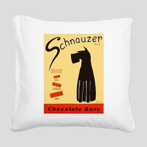 Schnauzer Bars Square Canvas Pillow