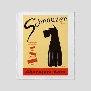 Schnauzer Bars Throw Blanket