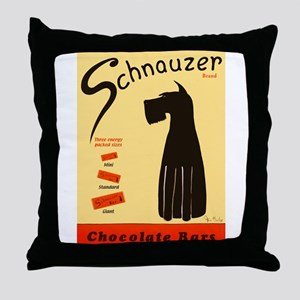 Schnauzer Bars Throw Pillow