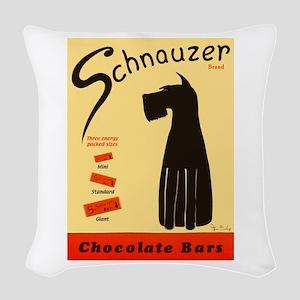 Schnauzer Bars Woven Throw Pillow