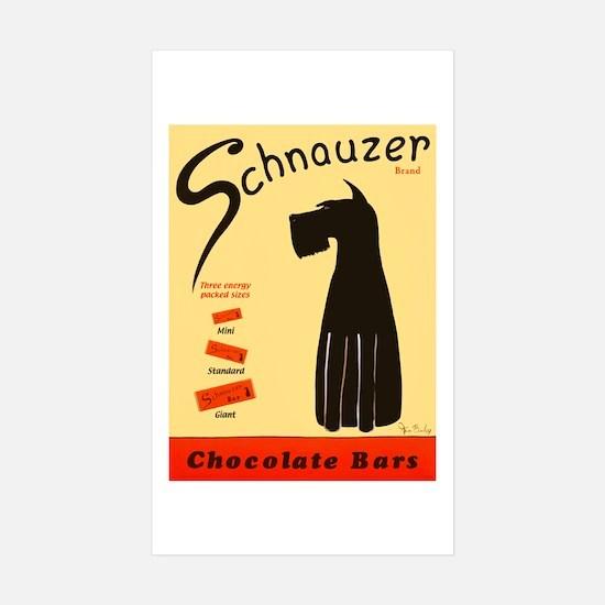 Schnauzer Bars Sticker (Rectangle 10 pk)