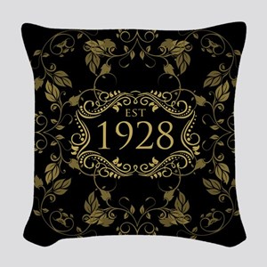 1928 Birth Year Woven Throw Pillow