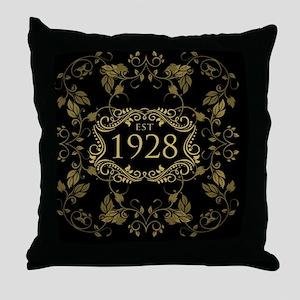 1928 Birth Year Throw Pillow