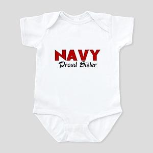 Navy Sister (red) Infant Bodysuit