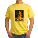 Fairies / Welsh Corgi Yellow T-Shirt
