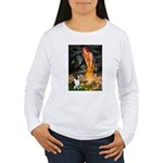 Fairies / Welsh Corgi Women's Long Sleeve T-Shirt