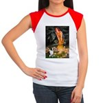 Fairies / Welsh Corgi Women's Cap Sleeve T-Shirt