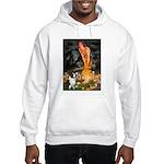 Fairies / Welsh Corgi Hooded Sweatshirt