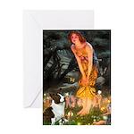 Fairies / Welsh Corgi Greeting Card
