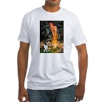 Fairies / Welsh Corgi Fitted T-Shirt