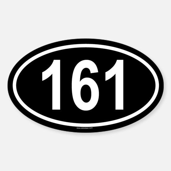 161 Oval Decal