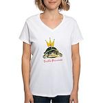Turtle Princess Women's V-Neck T-Shirt