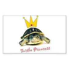 Turtle Princess Rectangle Sticker