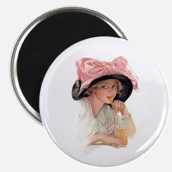 Pink Bow Hat Magnets