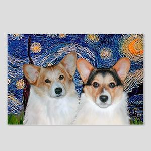 Starry Night / Corgi pair Postcards (Package of 8)