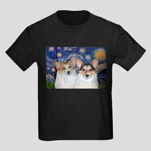 Starry Night / Corgi pair Kids Dark T-Shirt