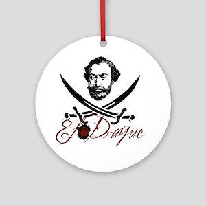 El Draque Pirate Insignia Ornament (Round)