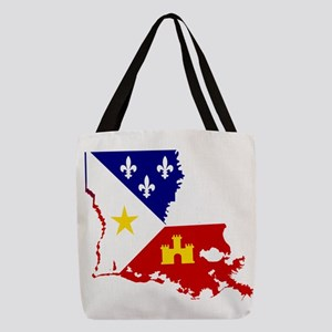 Acadiana State of Louisiana Polyester Tote Bag