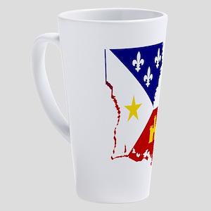 Acadiana State of Louisiana 17 oz Latte Mug