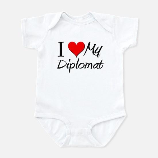 I Heart My Diplomat Infant Bodysuit