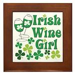 Irish Wine Girl Framed Tile