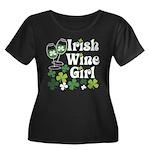 Irish Wine Girl Women's Plus Size Scoop Neck Dark
