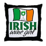 Irish Wine Girl Throw Pillow