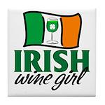Irish Wine Girl Tile Coaster
