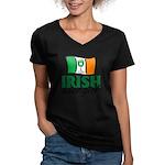 Irish Wine Girl Women's V-Neck Dark T-Shirt